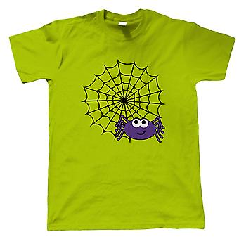 Spider Web Mens T-Shirt | Halloween Fancy Dress Costume Trick Or Treat | Hallows Eve Ghost Pumpkin Witch Trick Treat Spooky | Halloween Gift Him Dad