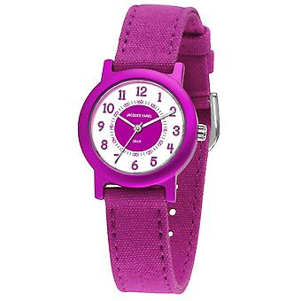 JACQUES FAREL Eco Kids horloge analoge Quartz meisje ORG 812 Violet