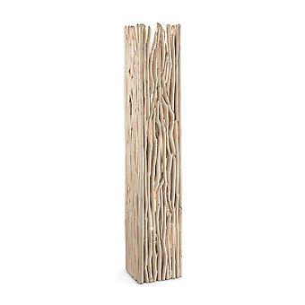 Idéal Lux Driftwood 2 Light Outdoor Bollard Light Wood IDL180946