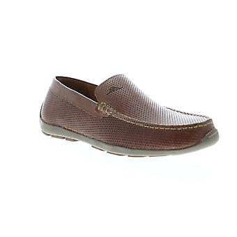 Tommy Bahama Acanto  Mens Brown Leather Casual Slip On Loafers Shoes