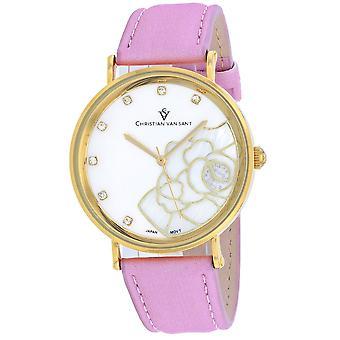 Christian Van Sant Women-apos;s Blossom Pink Dial Watch