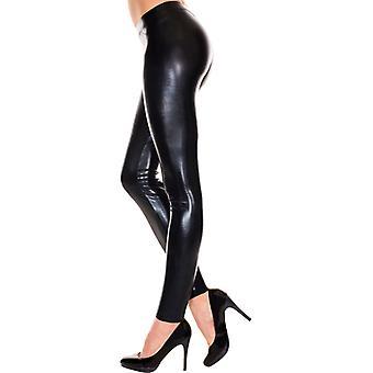 Wetlook Legging - Zwart