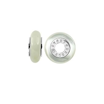 Storywheels Silver & Mother Of Pearl Wheel Charm S377BUT