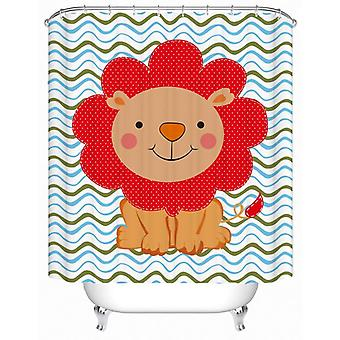 Children's Lion Drawing Shower Curtain