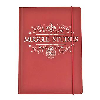 Harry Potter Notebook Muggles Studies new Official A5 lined Red hardback