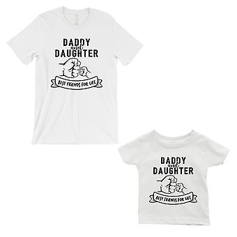 Daddy Daughter Fist BFFL Dad and Baby Matching Gift T-Shirts White