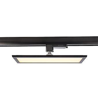 3-fazowy panel reflektorów szyn Track Light 20W 3000K 115° czarny