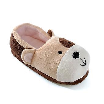 SlumberzzZ jungen Teddybär Slipper mit elastischer Ferse FT0593T