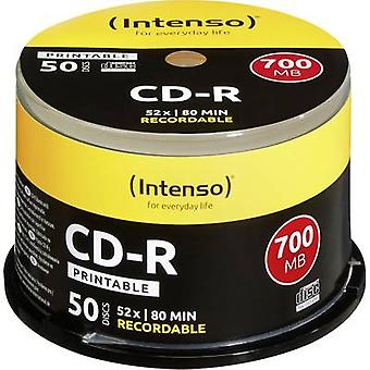 Intenso 1801125 tom CD-R 80 700 MB 50 PC (er) spindel Printable