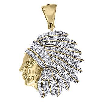 925スターリングシルバーメンズ2トーンCZキュービックジルコニアシミュレートダイヤモンドネイティブアメリカンインディアンペンダントネックレスジュエリーGi