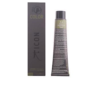 I.c.o.n. Ecotech kleur natuurlijke kleur #7.3 middellange Golden Blonde 60 Ml Unisex