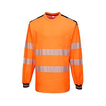 Portwest pw3 hi-vis t-shirt long sleeve workwear t185