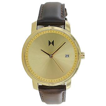 MVMT Signature Women's Watch Wristwatch Gold Brown MF01-GBR Leather