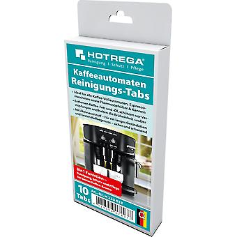 HOTREGA® Automatic Coffee Machine Cleaning Tabs, 10 Tabs Per Pack / Folding Box with Print