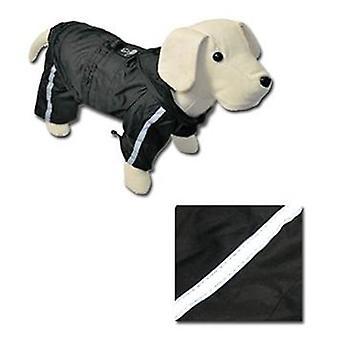 Nayeco regnställ reflekterande ben (svart) 20 cm. (hund, hundkläder, regnrockar)