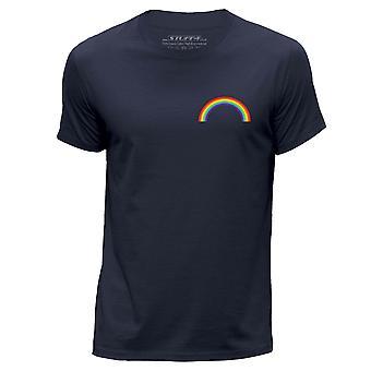 STUFF4 Men's Round Neck T-Shirt/LGBT/Gay Pride/Navy Blue