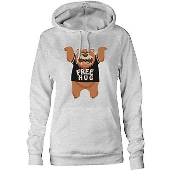 Womens Sweatshirts Hooded Hoodie- Free Hug