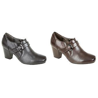 Boulevard Womens/Ladies Mid Heel Buckle Shoes