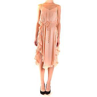 Aniye By Ezbc098016 Women's Pink Polyester Dress