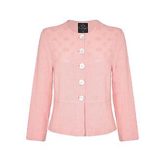 VIZ-A-VIZ Blossom Linen Blend Jacket