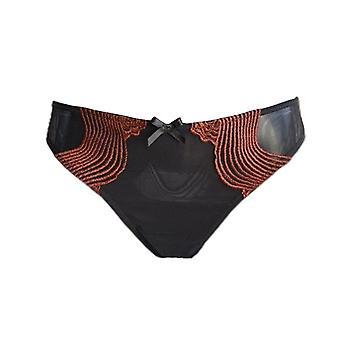 AMBRA lingerie slips dunes Thong noir 1470