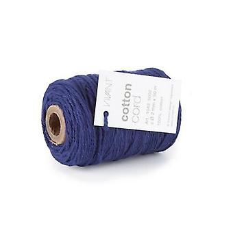 Vivant Cord Cotton fine royal blue - 50m x 2mm