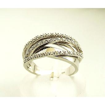 White gold Christian ring with diamond
