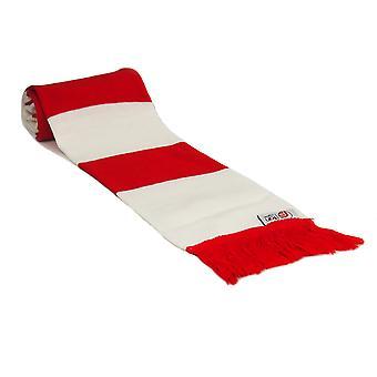 fan originals Retro Football Bar Scarf in Arsenal Colours Red White
