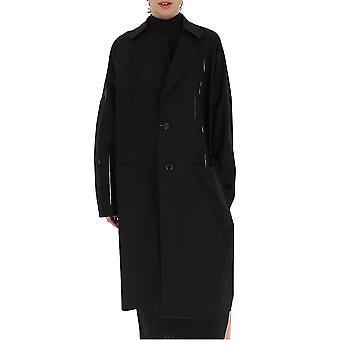 Yohji Yamamoto C520071 Women's Black Wool Coat