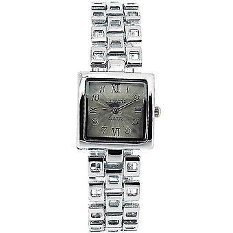 Die Olivia Collection Damen quadratisch Silber Zifferblatt Armband Strap Dress Watch COS11