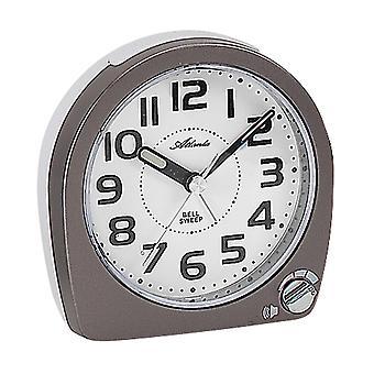 Atlanta 1738/4 alarme horloge quartz anthracite blanc silencieux sans ticking avec lumière Snooze