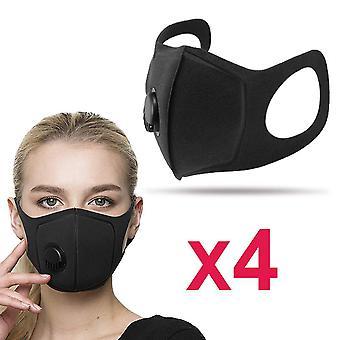 4-pak Professionelle vaskbare mundbeskyttere med 14:5 PM filter N95