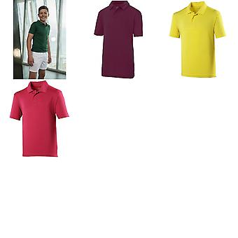 Just Cool Kids Unisex Sports Polo Plain Shirt (Pack of 2)