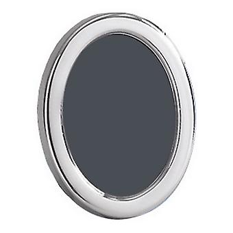 Orton West Polished Oval Photo Frame 1.5x2 - Silver