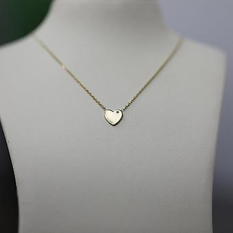 Necklace Full 18K Gold Heart - Rose Gold