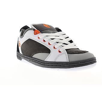 Etnies Czar Mens Gray Suede Low Top Lace Up Skate Sneakers Shoes