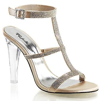 Fabulicious Women's Shoes CLEARLY-418 Champagne Satin