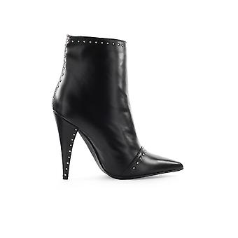 MARC ELLIS BLACK WITH SILVER STUDS ANKLE BOOT