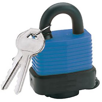 Draper 64176 45mm Laminated Steel Padlock & 2 Keys Hardened Steel Shackle