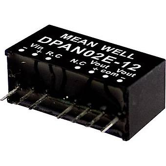 Mean Well DPAN02C-12 DC/DC converter (module) 83 mA 2 W No. of outputs: 2 x