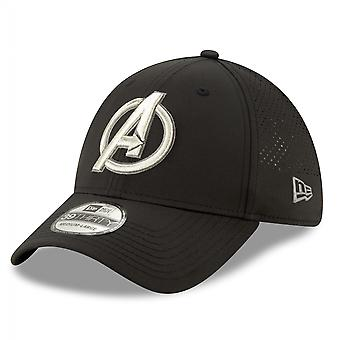 Avengers Sølv Symbol Perforated for Play New Era 39Thirty Monteret Hat