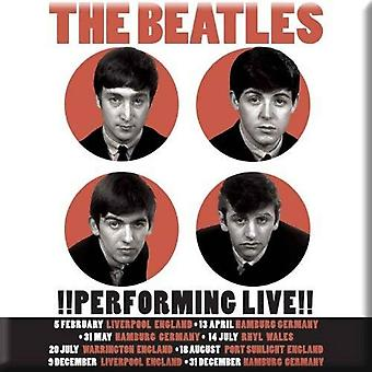 Die Beatles Kühlschrank Magnet 1962 Performing Live Plakat neue offizielle 76 x 76 mm