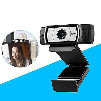 Logitech c930-c business webcam, full hd 1080p/30fps video calling, light correction, autofocus, 4x zoom, privacy shade; black