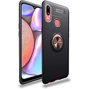 Mobiles Gehäuse mit Ringhalter Samsung Galaxy A10s - schwarz/rosé