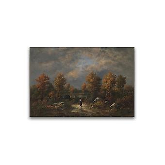 Woodland Pond Narcisse Virgilio Plakat -Bilde av Shutterstock