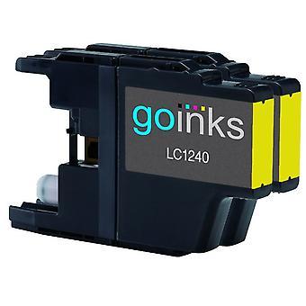 2 Gelbe Tintenpatronen ersetzen Brother LC1240Y Compatible/non-OEM by Go Inks