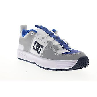 DC Lynx OG  Mens Gray Leather Lace Up Skate Sneakers Shoes