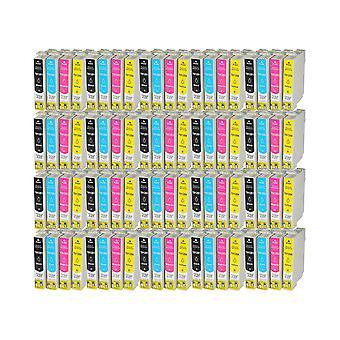RudyTwos 20 x ersättning för Epson Fox T1285 Set Ink enhet Svart Cyan Magenta & Gul kompatibel med S22 SX125, SX130, SX230, SX235W, SX420W, SX425W, SX430W, SX435W, SX438W, SX440W, SX445W, SX445WE,