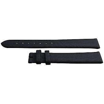 Authentic longines watch strap 12mm black satin fabric