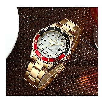 Genuine Deerfun Homage Watch Black Red Gold White Date Watches Top Quality